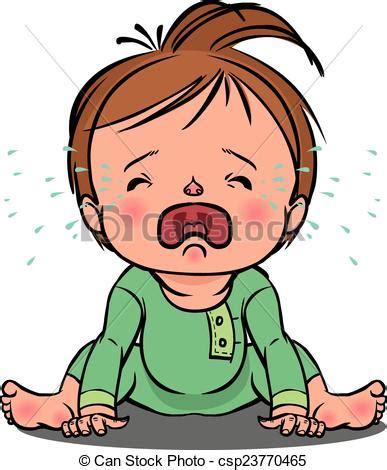 imagenes llorando caricaturas clip art de vectores de vector llanto ilustraci 243 n beb 233