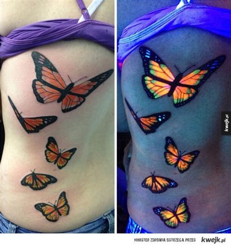 uv tattoos in daylight and under uv light tattoo designs