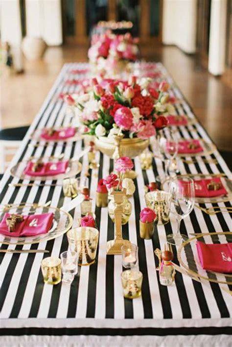 pink and black bridal shower decorations kate spade bridal shower ideas galore b lovely events