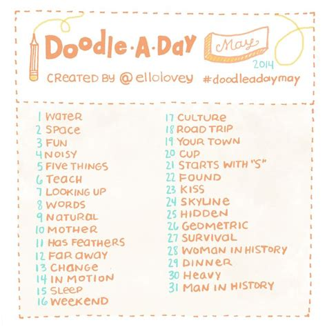doodle daily challenge 17 best images about 30 day drawing challenge on