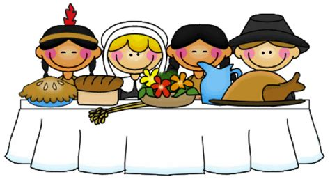 Traditional Thanksgiving Dinner Clipart