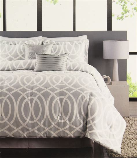 raymond waites bridgeport gray 5 piece queen comforter set