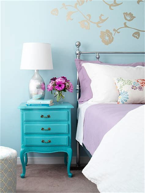 turquoise and purple bedroom key interiors by shinay vintage style teen girls bedroom