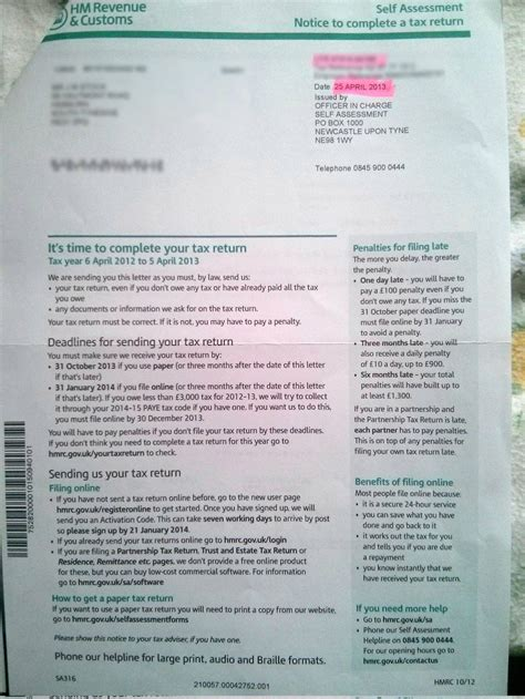 Appeal Letter Against Self Assessment Penalty Hmrc Self Assessment Late Payment Appeal Page 2 Rtg