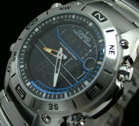 Casio Amw 703d 1avdf casio fishing outgear thermometer moon amw 703d 1a