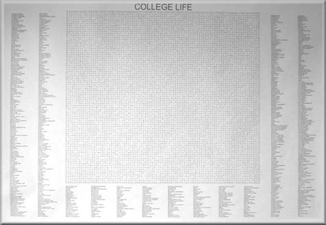 800 Directory Lookup College 800 Terms Word Search Posters