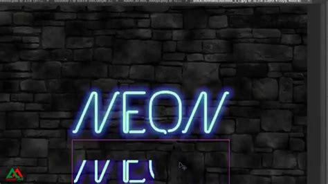 tutorial photoshop neon photoshop tutorial neon text effect youtube