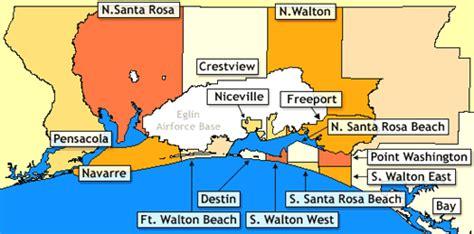 map of destin florida area destin florida location map