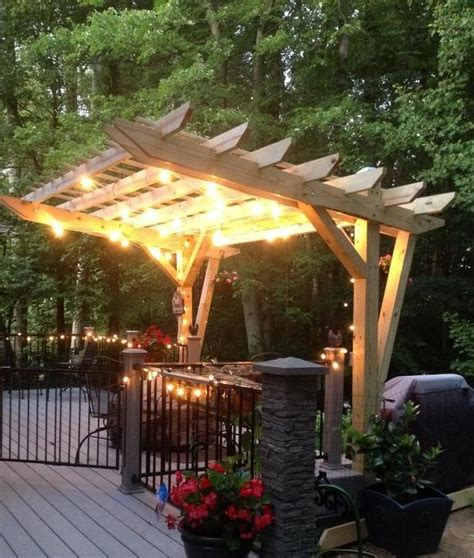cantilever pergola plans cantilevered pergola diy designed and built hometalk
