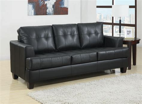 Black Sofa Beds Toronto Tufted Black Leather Sleeper Sofa Bed By True Contemporary