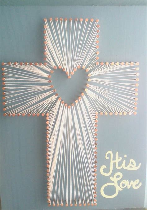 his love cross string art 45 00 via etsy cross