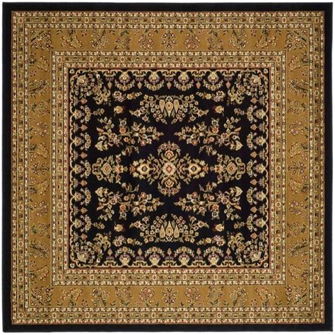Safavieh Lyndhurst Black Tan 8 Ft X 8 Ft Square Area Rug 8 Foot Area Rugs