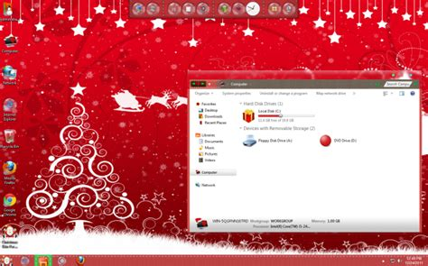 christmas homepage themes bring holiday joys to your windows 7 desktop with
