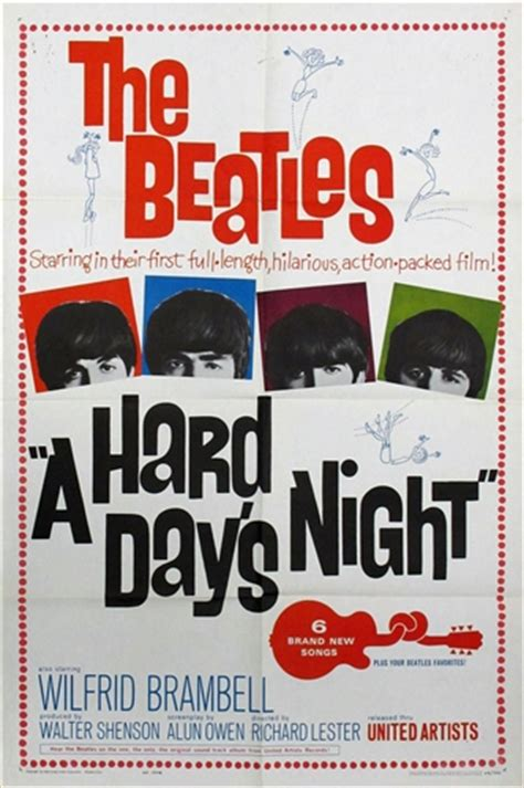 Poster Classic Vintage Help The Beatles a day s original us one sheet vintage