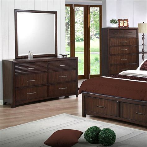 java bedroom set edison 5 piece bedroom set storage bed java oak king