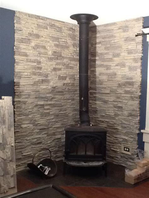 Gorgeous DIY Wood Stove Backing   Creative Faux Panels