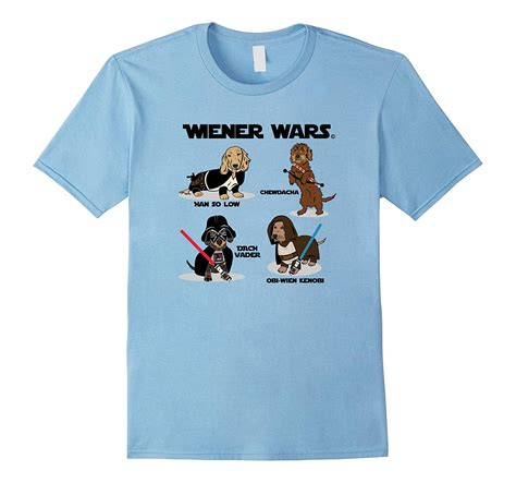 Tshirt Wars Cl by Wiener Wars Dachshund Characters T Shirt Light Colors Cl
