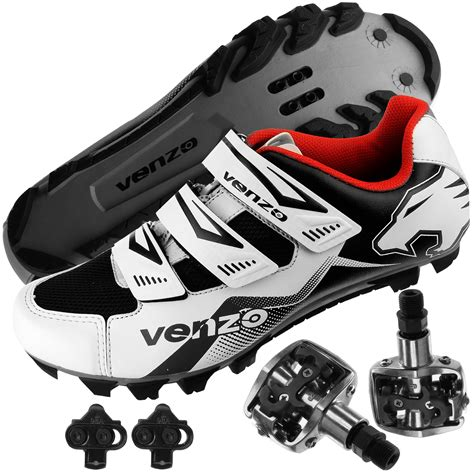 mountain bike shoes and pedals venzo mountain bike bicycle cycling shimano spd shoes