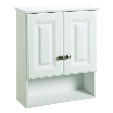 Bathroom Storage Cupboards White Design House Wyndham 22 In W X 26 In H X 8 In D Bathroom Storage Wall Cabinet With Shelf In
