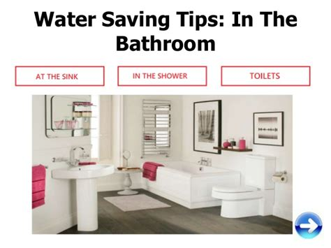 ways to conserve water in the bathroom how to save water