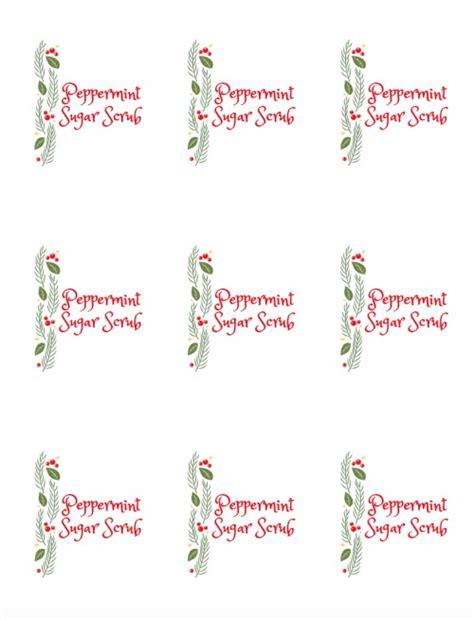printable label for peppermint sugar scrub simple peppermint sugar scrub recipe 11 magnolia lane