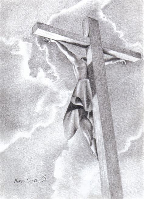 imagenes a lapiz de jesus en la cruz marco costa artista visual marzo 2013