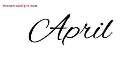 april archives free name designs