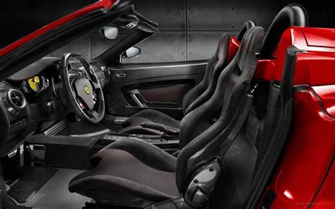 ferrari scuderia spider  interior  wallpaper hd car