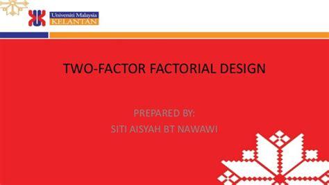 design effect factor two factor factorial design pdf