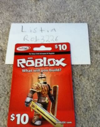 Roblox Com Gift Card - free 10 roblox gift card other electronics listia com auctions for free stuff