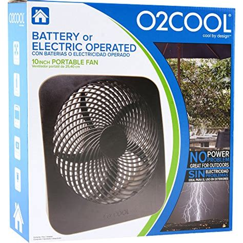 o2cool 10 inch portable o2cool 174 10 inch portable fan with ac adapter cing