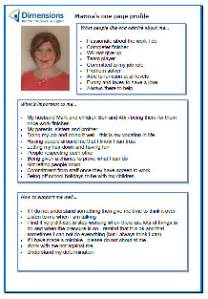 professional one page profiles