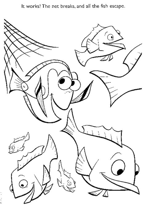 finding nemo characters pictures az coloring pages