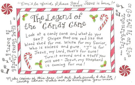 The Legend of the Candy Cane   FREE Printable Tag!   Happy Home Fairy