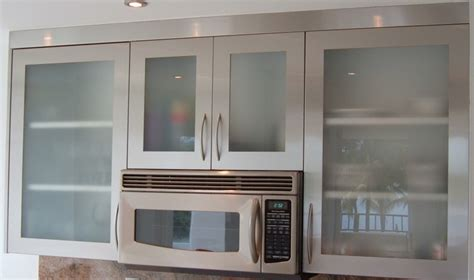 Glass Kitchen Cabinet Door Stainless Steel Islands Door Styles Accessories Steelkitchen