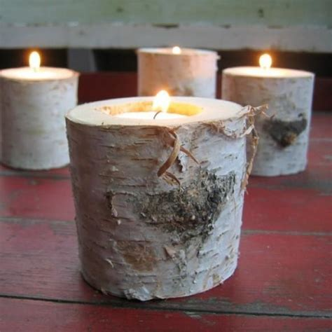 Rustic Wedding   Rustic Candles And Candle Holders #802592