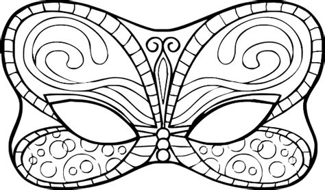 carnival mask template coloring pages
