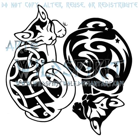 celtic cat tattoo designs yin yang images designs