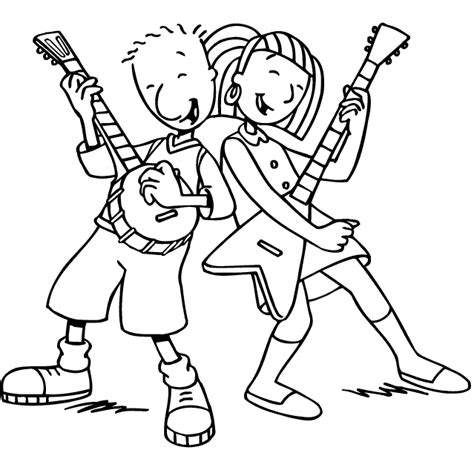 coloring page of a rock star celebrity rockstar coloring pages coloring pages