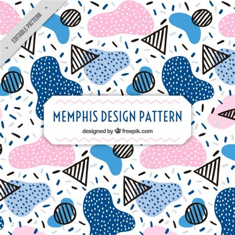 memphis pattern ai colored shapes memphis pattern vector free download