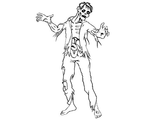 coloring page of a zombie free vs zombie coloring pages