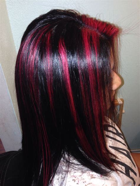 matrix hd red hair color best ideas about red violet highlights color highlights