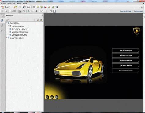 service manuals schematics 2006 lamborghini gallardo auto manual lamborghini gallardo workshop manual parts