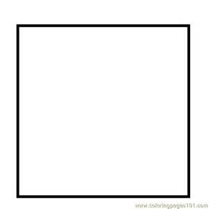 square coloring pages simple square shape coloring page free printable