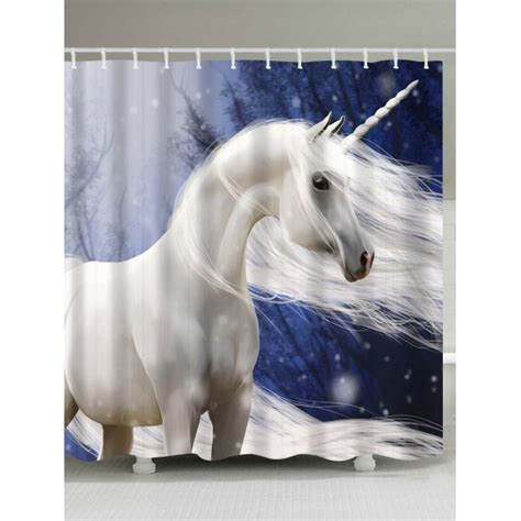 unicorn shower curtain unicorn animal shower curtain with hooks in colormix w71