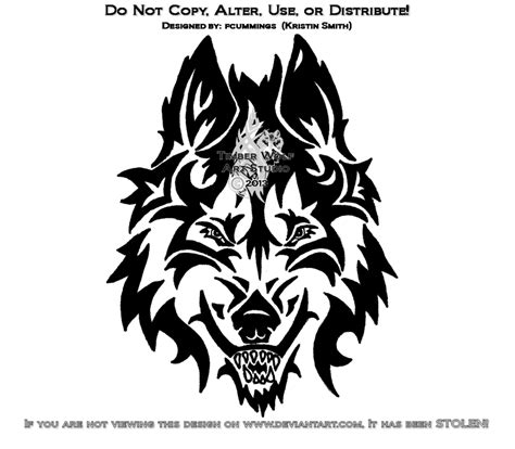 tribal wolf head tattoo designs tribal tattoos and designs page 8