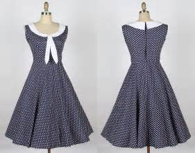 1940s dresses 1940s 50s sailor dress navy blue with white dot sailor 007 163 29 99 of holloway