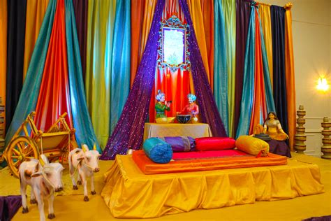 birthday party home decoration ideas in india different lohri party decor stage decor pinterest mariage and