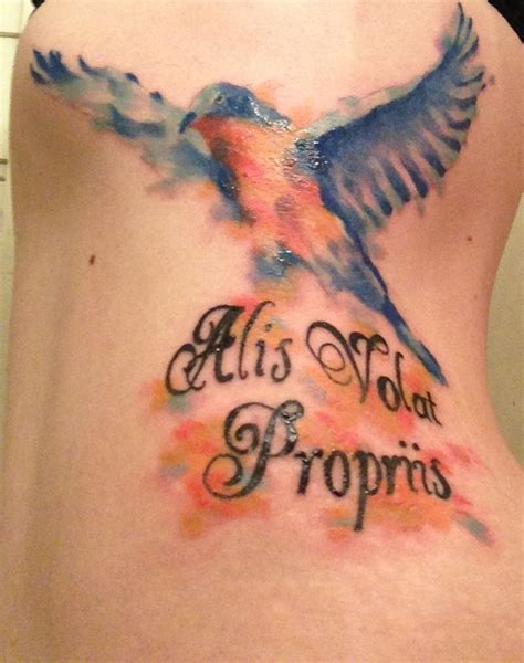 alis volat propriis tattoo designs my bluebird with alis volat propriis
