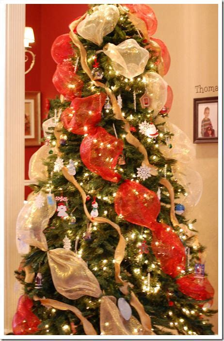 christmas tree using deco mesh for the home pinterest
